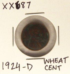 1924-D Wheat Cent XX687