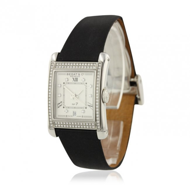 Bedat & Co. No. 7 Stainless Steel and Diamond Wristwatc