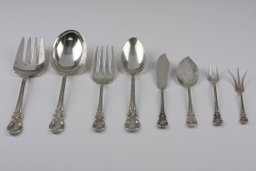 Vintage 8 Piece Sterling Silver Completer Serving Set E