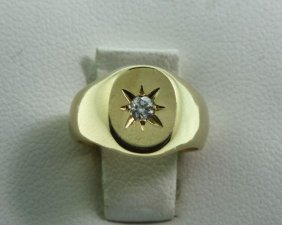 Childrens Diamond & Gold Ring .02ct GD44