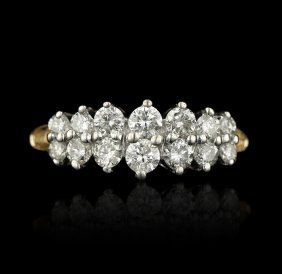 14KT Two Tone 0.80ctw Diamond Ring GB406