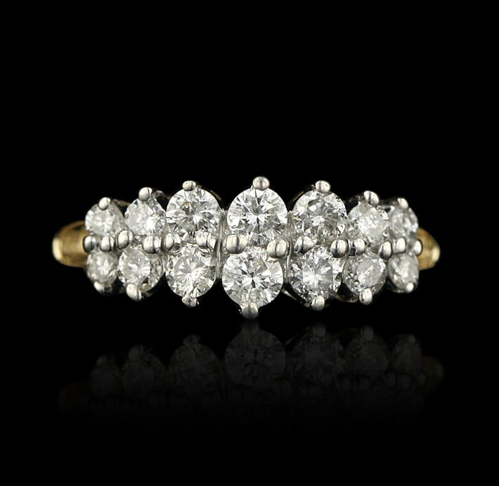 14KT Two Tone 0.80ctw Diamond Ring GB406