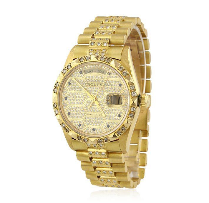 Gents Rolex DayDate 18KT Yellow Gold and Diamond Wristw