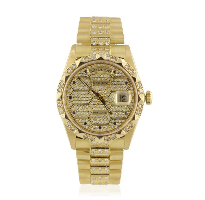 Gents Rolex DayDate 18KT Yellow Gold and Diamond Wristw - 2