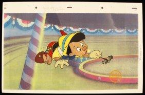 "Walt Disney ""Pinocchio"" Ltd Ed Serigraph Cel DisneySeri"