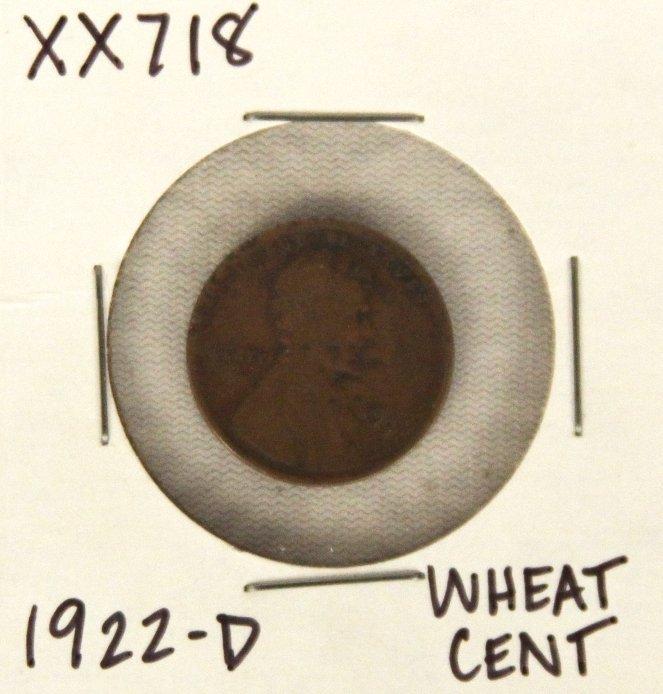 1922-D Wheat Cent XX718