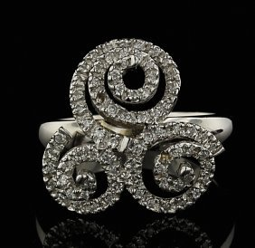 14KT White Gold 0.35ctw Diamond Ring GB544