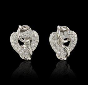 18KT White Gold 1.25ctw Diamond Earrings FJM2209