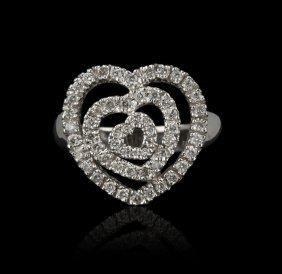 14KT White Gold 0.49ctw Diamond Ring GB584