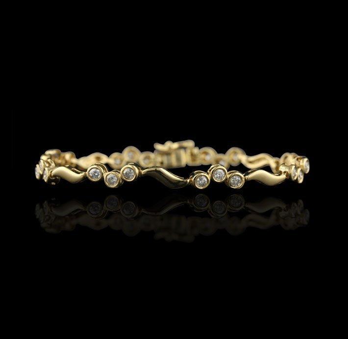14KT Yellow Gold 1.43ctw Diamond Bracelet GB471