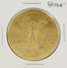 50 Peso Mexican Gold Piece Coin GB1165