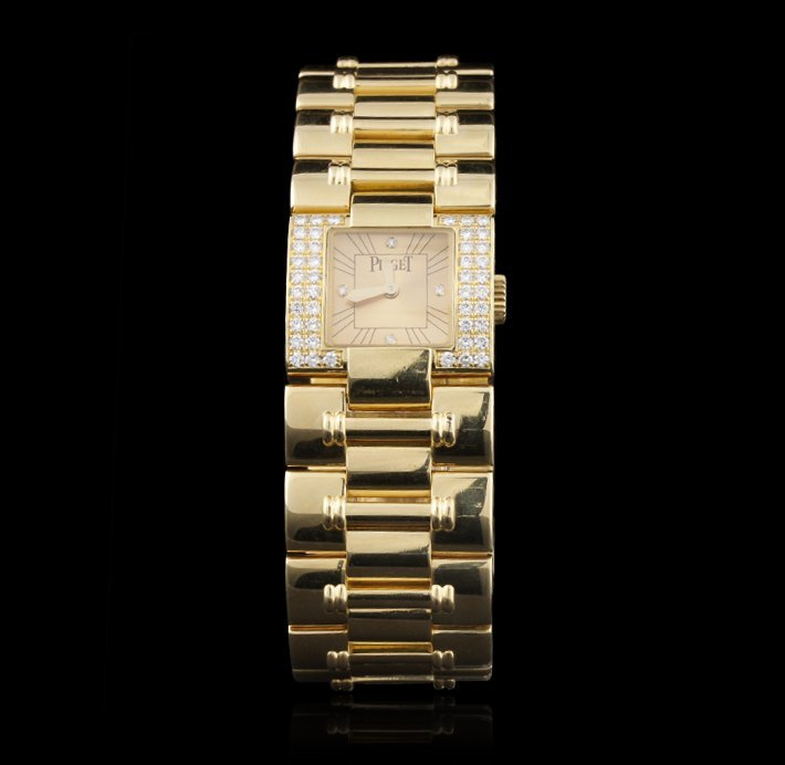 "Paiget 18KT Yellow Gold Ladies ""Dancer"" Wristwatch w/ D"