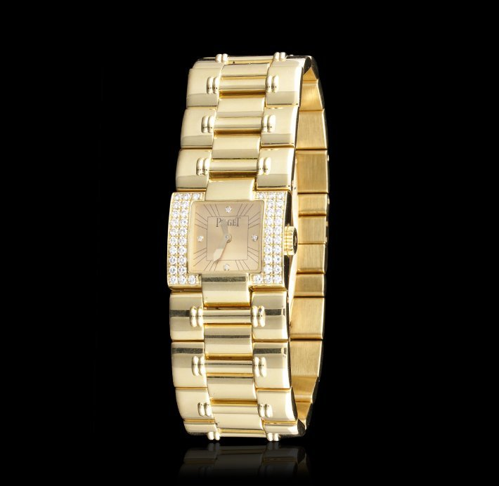 "Paiget 18KT Yellow Gold Ladies ""Dancer"" Wristwatch w/ D - 2"