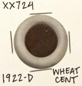 1922-D Wheat Cent XX724