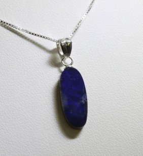 Sterling Silver Opal Doublet Necklace RTJ542