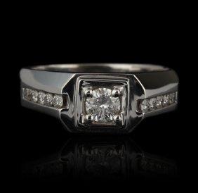 14KT White Gold 0.75ctw Diamond Ring FJM2084