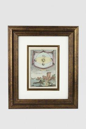 Antique Mallet 1719 Celestial Earth's Orbit and Castle