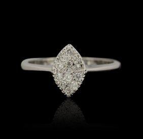 18KT White Gold 0.30ctw Diamond Ring GB1222