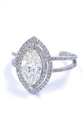 14KT White Gold 1.61tcw Diamond Ring A3887