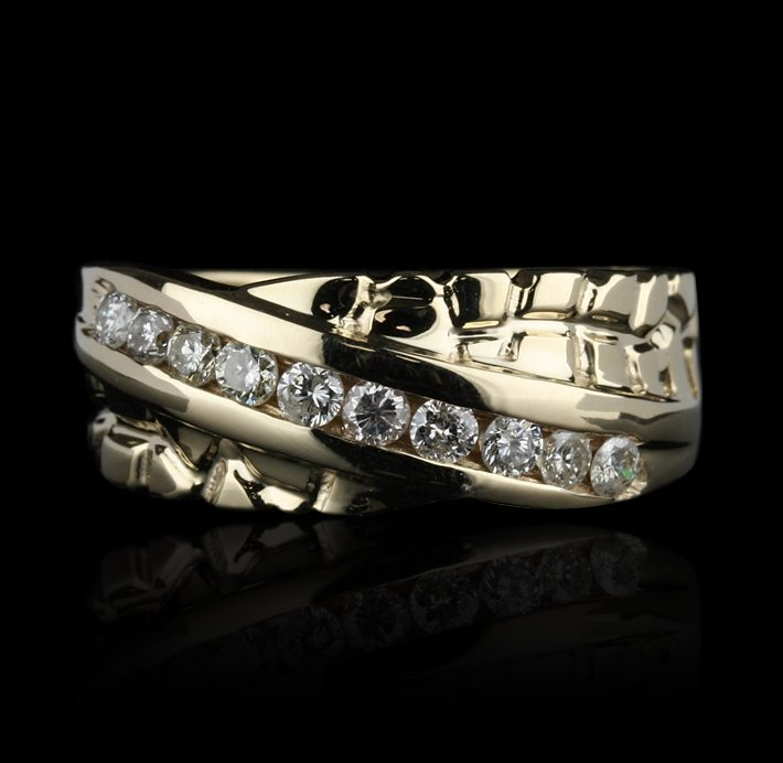 14KT Yellow Gold 0.60ctw Diamond Band Ring GB761