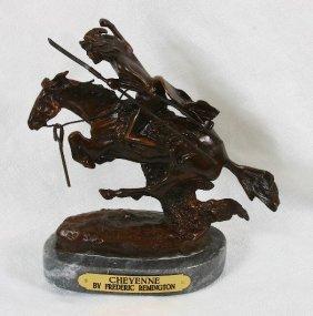 Frederic Remington Bronze Statue Reproduction - Cheyenn