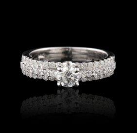 14KT White Gold 1.07ctw Diamond Ring FJM2586