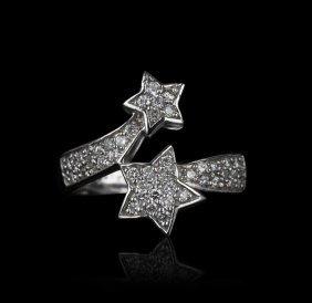 14KT White Gold 1.15ctw Diamond Ring GB555