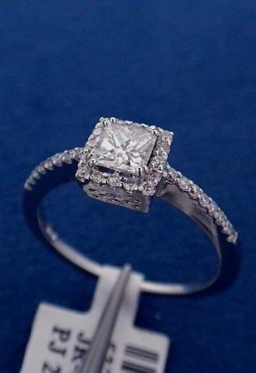 14KT White Gold Ladies .59ctw Diamond Ring J54