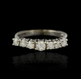 14KT White Gold 0.76ct Diamond Ring A4759