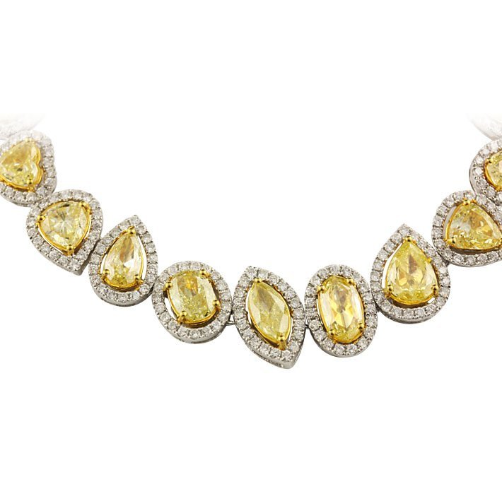 18KT Yellow & White Gold 24.59ctw Fancy Yellow Diamond  - 5