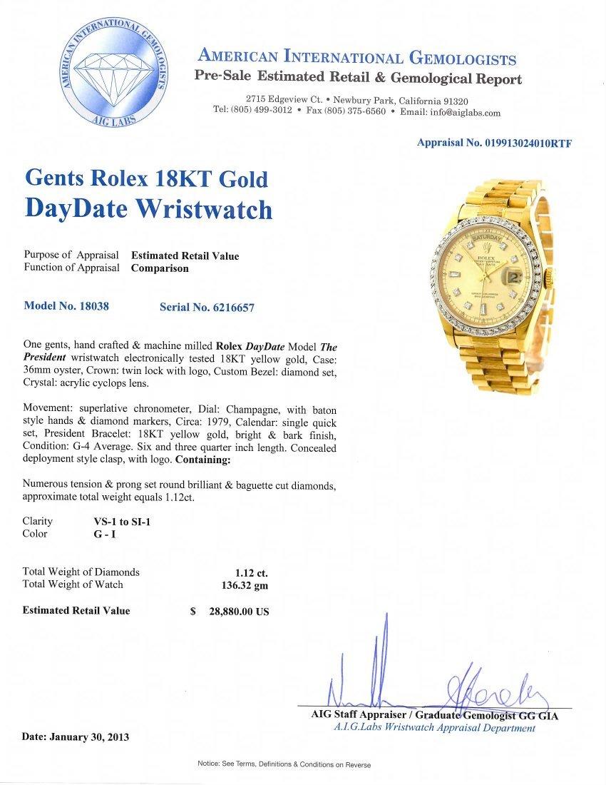 Gents Rolex 18KT Yellow Gold DayDate Wristwatch A4743 - 5