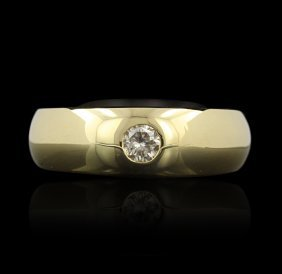 14KT Yellow Gold 0.27ctw Diamond Ring GB913
