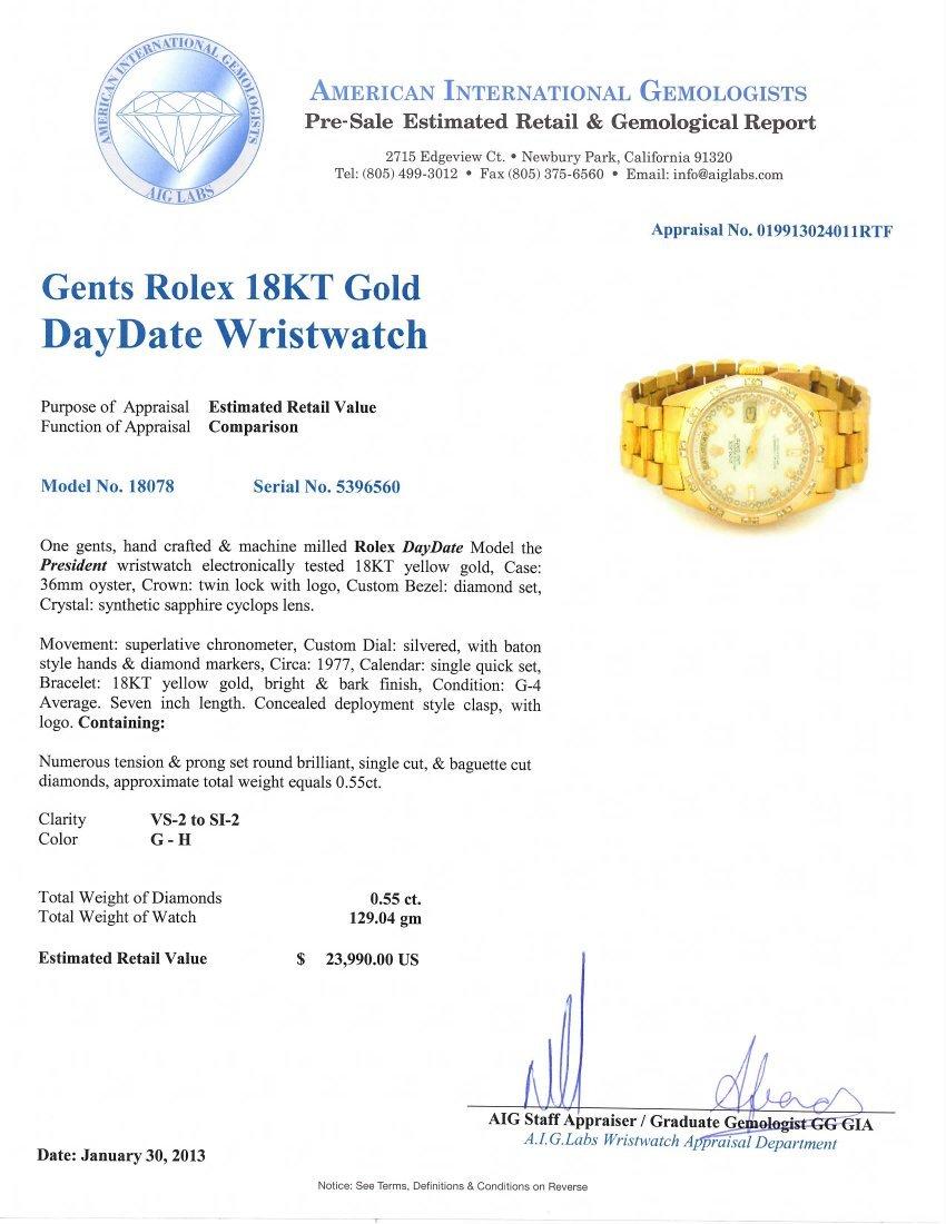Gents Rolex 18KT Yellow Gold DayDate Wristwatch A4742 - 4