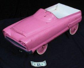 Antique Vintage Pink Pedal Car c.1930-50's