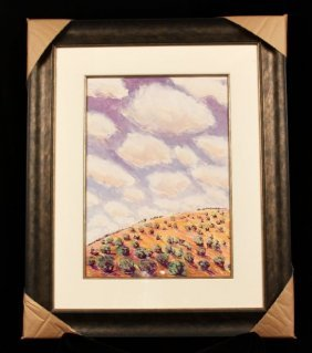 "Original Pastel ""Sage Blush"" by Nancy Denison ED679"