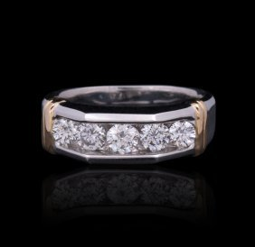 14KT White Gold 1.05ctw Diamond Ring GB1337