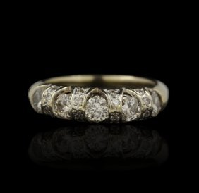 14KT Yellow Gold 1.02ct Diamond Ring A4757
