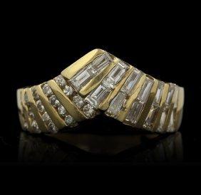 14KT Yellow Gold 1.10ctw Diamond Ring GB956