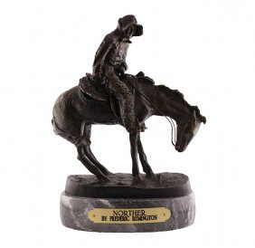 Frederic Remington Bronze Statue Reproduction - Norther