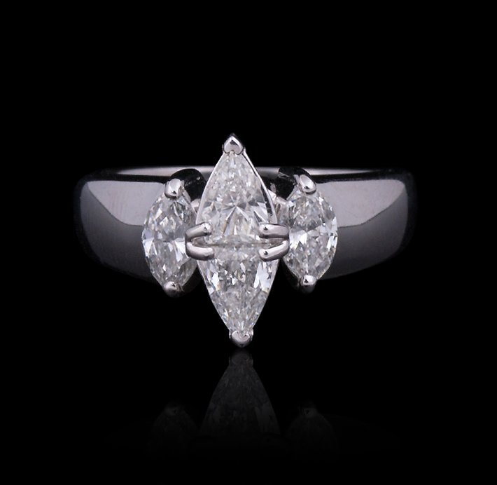 14KT White Gold 1.00ctw Diamond Ring GB1336