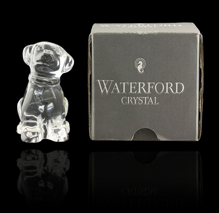 "Waterford Crystal ""Young Labrador"" Figure ED1466"