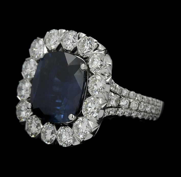 18KT White Gold 8.08ct Sapphire & Diamond Ring CNS11 - 2