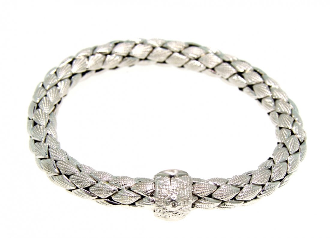18KT White Gold Estate Ladies Chimento Bracelet GD400
