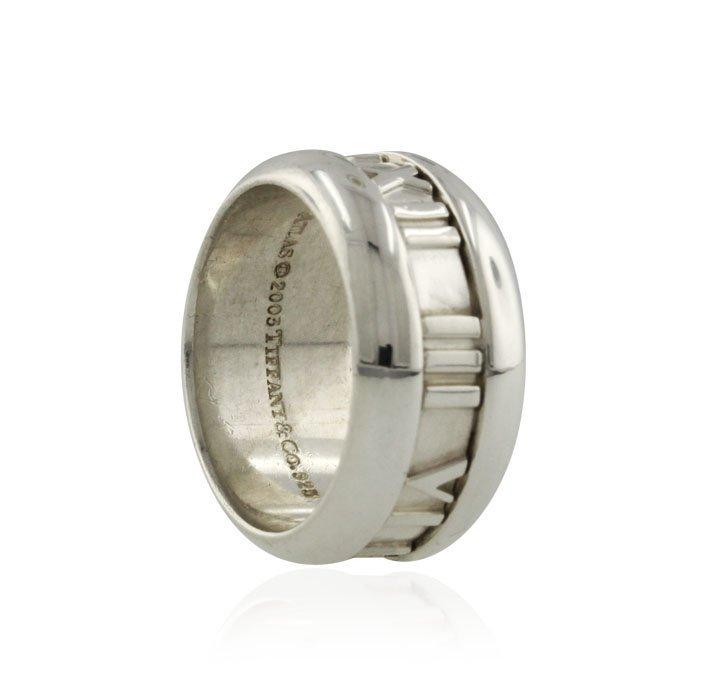 "Tiffany & Co. Sterling Silver ""Atlas"" Ring GD437 - 2"