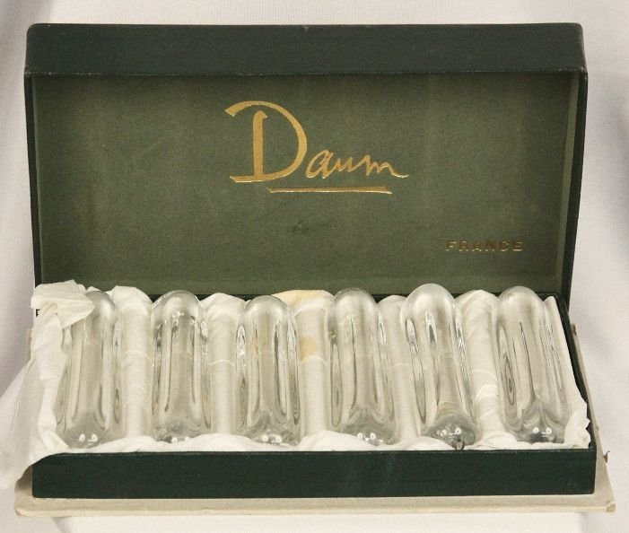 Daum Vintage French Crystal Knife Rests (6) ED884