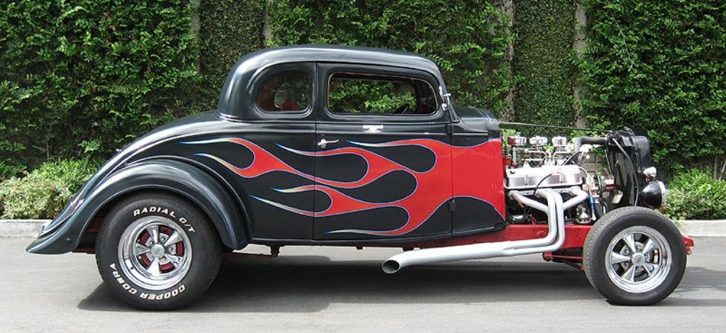 1933 Chevy 5 Window Chopped & Flamed Coupe!
