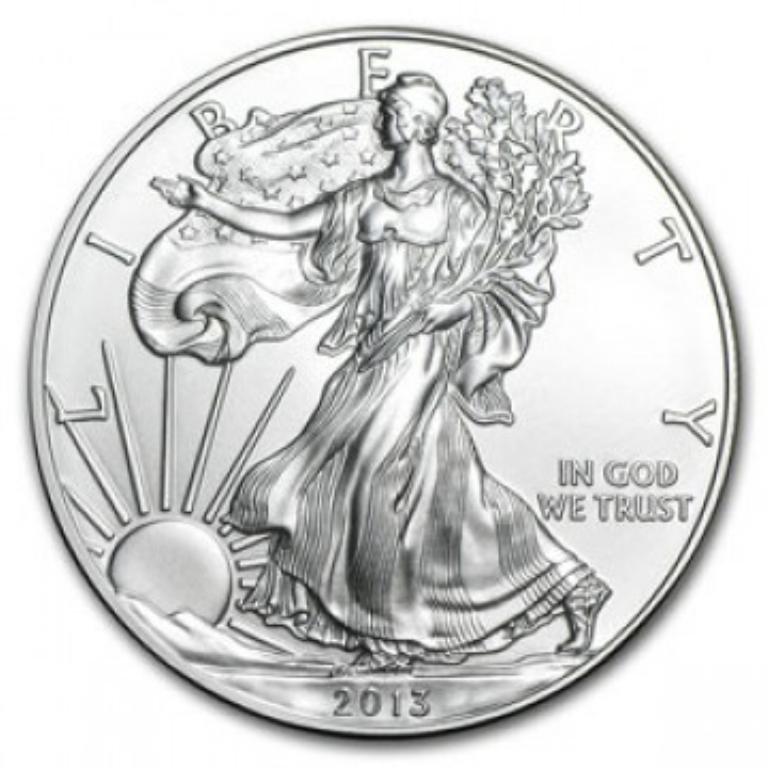 2013 American Silver Eagle Dollar GEM BU Coin
