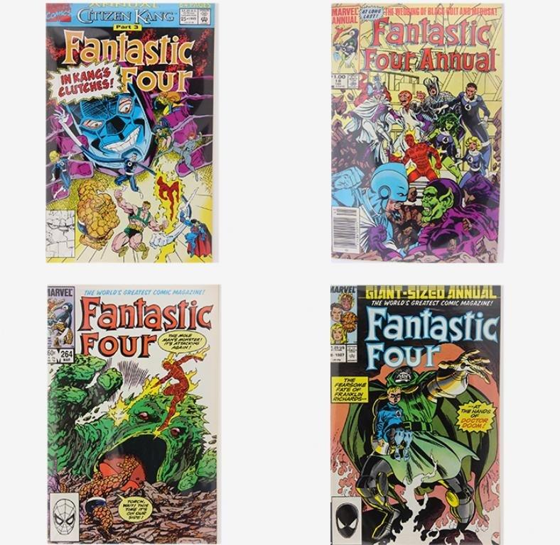 Lot of 4 Vintage Comic Books CB1345