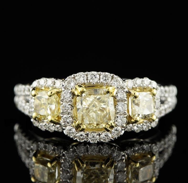 18KT White Gold 1.92tcw Diamond Ring A3908