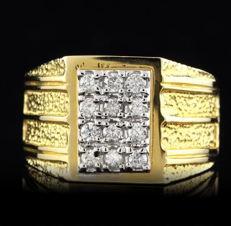 14KT Yellow Gold 0.55ctw Diamond Ring FAA35
